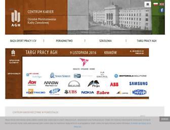 Main page screenshot of ck.agh.edu.pl