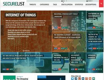 Thumbshot of Viruslist.com
