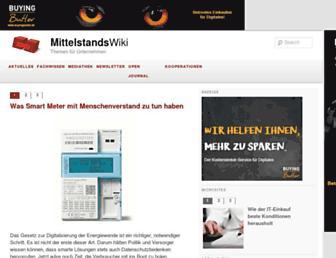 Main page screenshot of mittelstandswiki.de