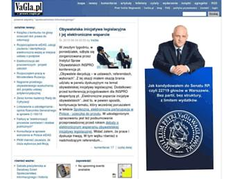 Main page screenshot of prawo.vagla.pl