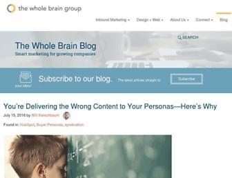 blog.thewholebraingroup.com screenshot