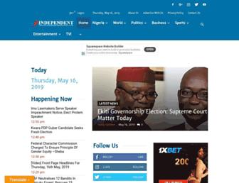 independent.ng screenshot