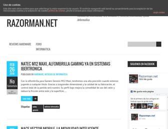 Main page screenshot of razorman.net