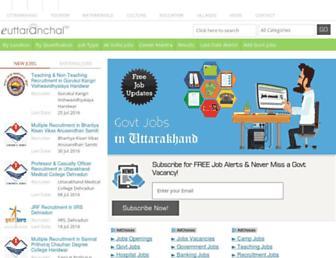 govt-jobs.euttaranchal.com screenshot