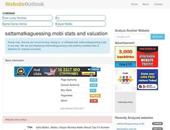 sattamatkaguessing.mobi.websiteoutlook.com screenshot