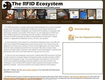 rfid.cs.washington.edu screenshot