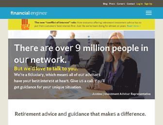 Fullscreen thumbnail of financialengines.com