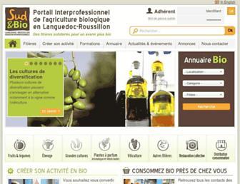 sud-et-bio.com screenshot