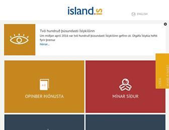 island.is screenshot