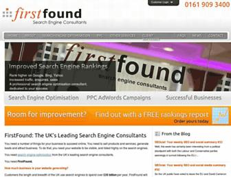 firstfound.co.uk screenshot