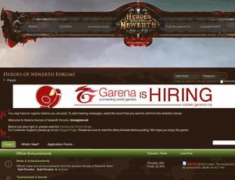 forum.hon.garena.com screenshot