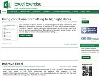 excel-exercise.com screenshot