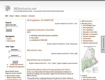 Main page screenshot of forum.mdischools.net
