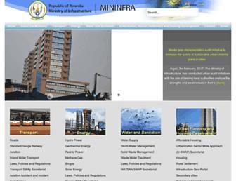 mininfra.gov.rw screenshot
