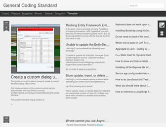 generalcodingstandard.blogspot.com screenshot