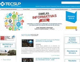 tecsup.edu.pe screenshot