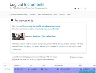 logicalincrements.com screenshot