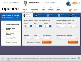 oponeo.fr screenshot