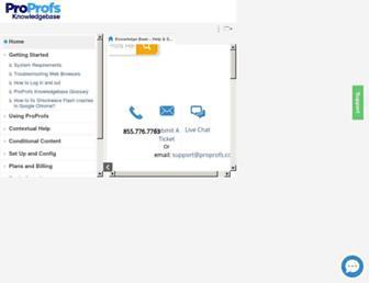 knowledgebase.proprofs.com screenshot