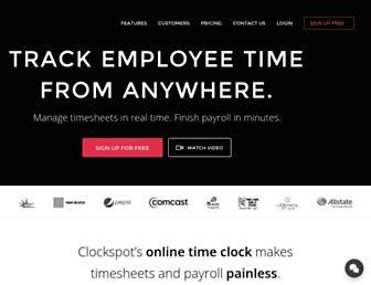 clockspot.com screenshot