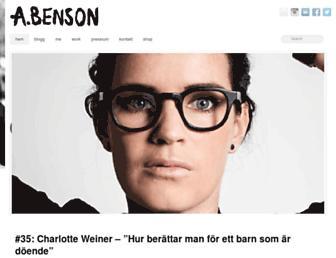 annabenson.se screenshot
