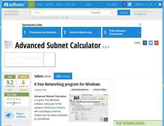advanced-subnet-calculator.en.softonic.com screenshot
