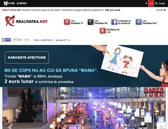 Main page screenshot of realitatea.net