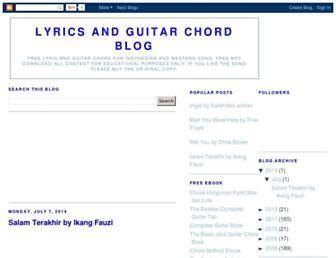 lirik-dan-kord-gitar.blogspot.com screenshot
