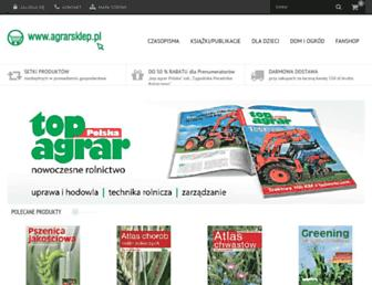 Main page screenshot of agrarsklep.pl