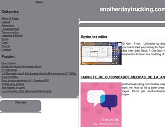 anotherdaytrucking.com screenshot