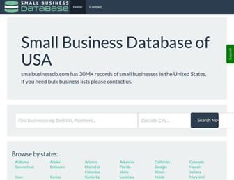 smallbusinessdb.com screenshot