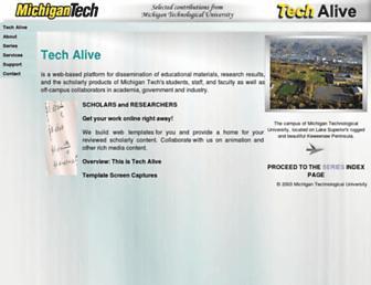 techalive.mtu.edu screenshot