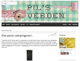Main page screenshot of pilsverden.dk