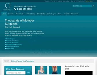 plasticsurgery.org screenshot