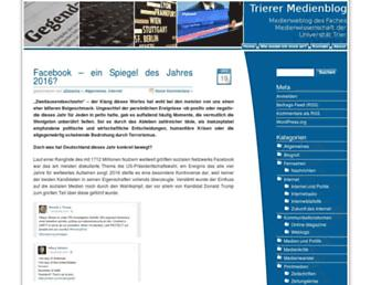 Main page screenshot of weblog.medienwissenschaft.de