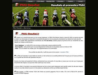 pmu-resultat.fr screenshot