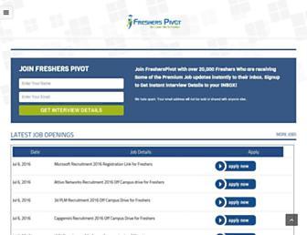 Thumbshot of Fresherspivot.com