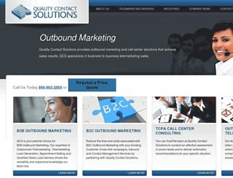 qualitycontactsolutions.com screenshot