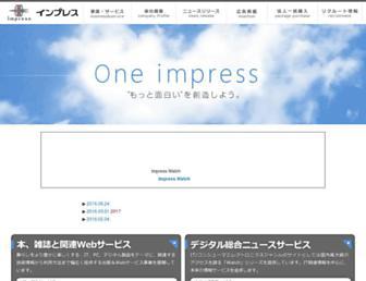Main page screenshot of impress.co.jp