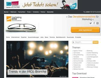 Main page screenshot of marketing-boerse.de