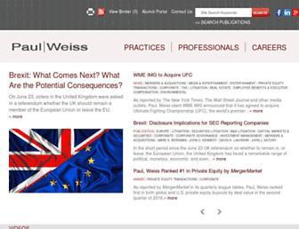 paulweiss.com screenshot