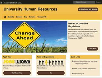 hr.uiowa.edu screenshot