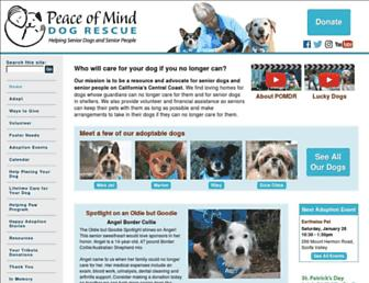 peaceofminddogrescue.org screenshot