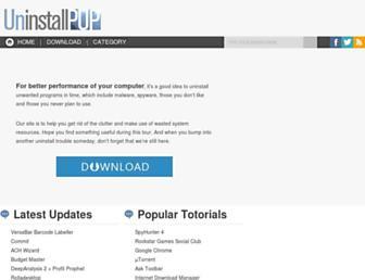 uninstallpup.com screenshot