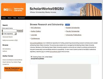 scholarworks.bgsu.edu screenshot