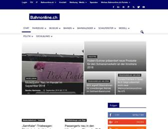 Main page screenshot of bahnonline.ch