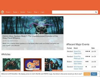 Thumbshot of Mtggoldfish.com