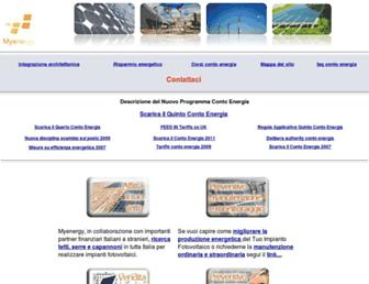Main page screenshot of conto-energia-online.it