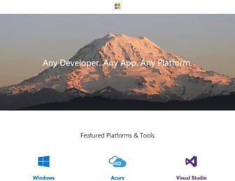 developer.microsoft.com screenshot