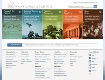 Thumbshot of Archives.gov